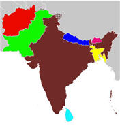 Central Asia Map South Asia Map